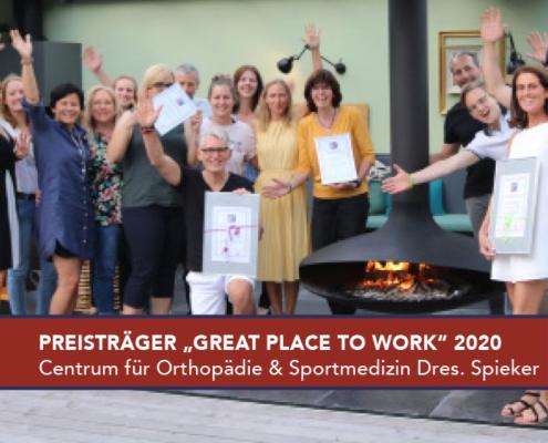 Great Place to Work 2020 Preis CeOS Orthopädie Achern Dres. Spieker