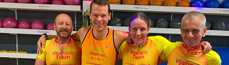 Vitalhaus-Team Platz 2 beim Indoor-Cycling Spendenmarathon Steinhof Oberkirch