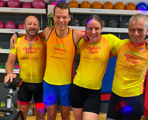 Vitalhaus-Team Platz 2 beim Indoor-Cycling Spendenmarathon Steinhof Oberkirch